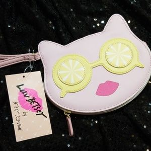 NWT Betsy Johnson Kitty sunshine coun purse